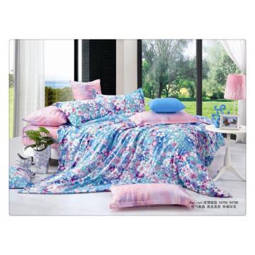 Floral Luxus 40s 128 * 68 Pigment Druck 100% Baumwolle Bettwäsche Designer Bettbezug Sets