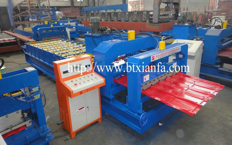 Step Tile Roofing Sheet Metal Corrugation Machine