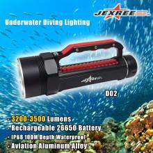 Lampe de plongée sous-marine haute luminosité LED 3500lm
