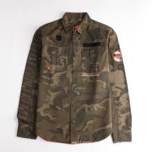 Langarm Camo Printed Jacket Shirt für Kinder