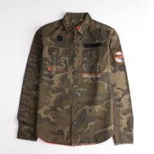 Children's Long Sleeves Camo Printed Jacket Shirt