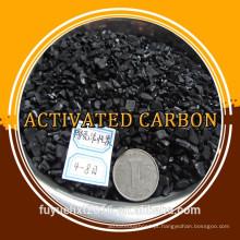 Uso catalítico avançado Carcaça de coco Carvão ativado