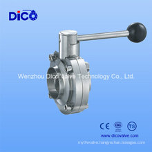 Ce Sanitary Weld End Butterfly Valve for Food Industry