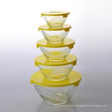 Imperial Home Glass Storage Bowl Set