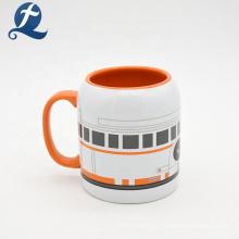 Personalizado beber chá leite copo café cerâmica com alça