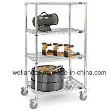 DIY pesados de acero de cromo de alambre Garaje de almacenamiento de rack (CJ12045180A4C)