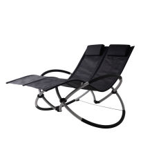 Foldable Alumimun Double seat rocking chair