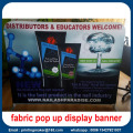 6ft Backdrop Fabric Display med dubbla sidor bilder