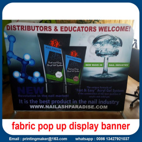 Display Fabric Backdrop 6ft dengan Gambar Sisi Ganda