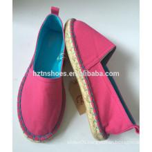 Classic espadrille canvas shoes 2016 women rubber sole sneakers