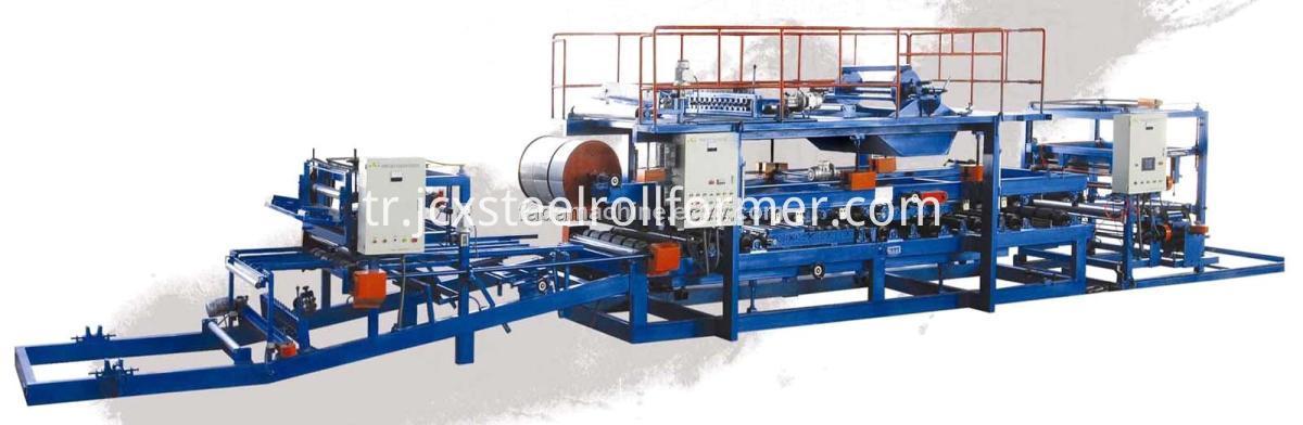 Fireproof Rock Wool Sandwich Panel Making Machine Line