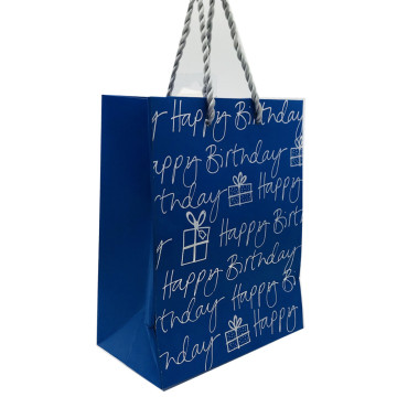 Perak Foil Stamped White Paper shopping Bag