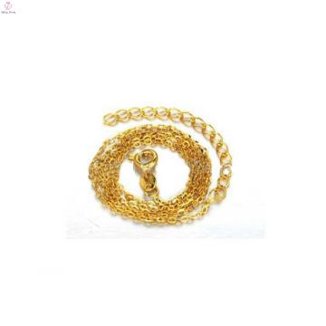Collar de cadena de oro fino simple, diseños de cadena fina de oro