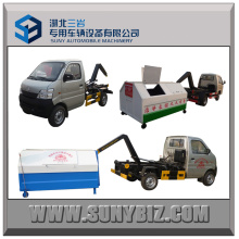 Mini Diese 4X2 Changan Roll-off Garbage Truck