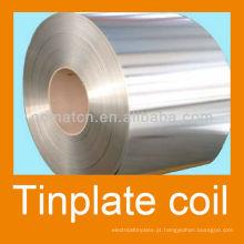 EN10202 prime eletrolítico senhor do tinplate 2.8/2.8 estanhando brilhante acabamento T4CA para o alimento pode produção