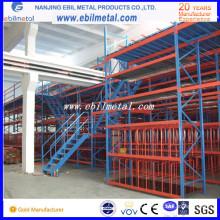 Ampliamente uso en fábrica y almacén de alta calidad de múltiples niveles de racking