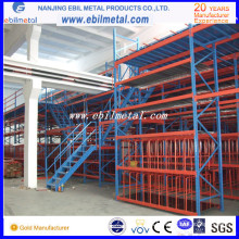 Широкое использование в заводских и складских помещениях Высококачественные многоуровневые стеллажи