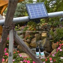 Bombilla solar pequeña con sistema de iluminación.