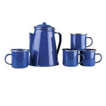 Enamel Panelas Chaleira, Utensílios de Cozinha, Esmalte Teapot, Camping chaleira de esmalte