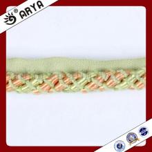 Hermoso y nuevo diseño Cuerda decorativa para la decoración del sofá o el accesorio de la decoración casera, cuerda decorativa, 6m m