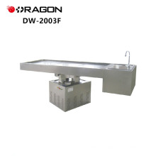 Rotación de elevación de acero inoxidable DW-2003F Potente mesa de disección forense