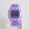 Montre sport montre bracelet en cuir 3 ATM avec montre réveil en gros
