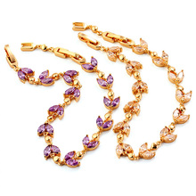 Fashion Jewelry Beautiful CZ Stone Gold Costume Jewelry Bracelet