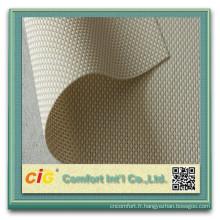 Tissu de protection solaire fenêtre solaire tissu PVC Polyester tissu pour stores à rouleau