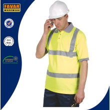 Hi-Vis Yellow Micromesh Safety Polo Shirt
