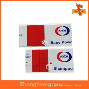 Custom heat shrink shampoo label for bottle packaging with printing