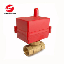 válvula motorizada teledirigida inalámbrica de cobre amarillo para el agua