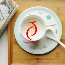 Diseño moderno Alta calidad Pintado a mano Personalizado patrón de gallo Copa de té de cerámica con Infuser