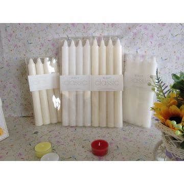 White stick candle glass candle holders candle