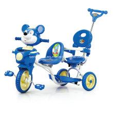 Triciclo gemelo bueno de los niños de venta con dos asientos (SNTR861D)