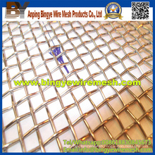 Brass Weave Crimped Wire Mesh for Sale
