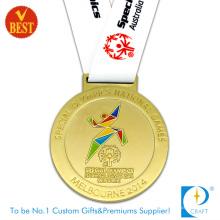 Suministre la medalla corriente del chapado en oro de los Juegos Olímpicos de Melbourne de la fuente de China
