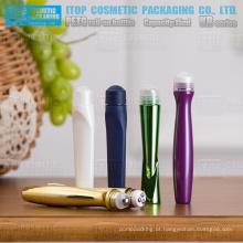 Delicado e bonito alta qualidade OEM disponível ampla aplicação plástica cosméticos essência roll-on frasco