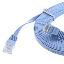 Buen rendimiento de la computadora cat6 UTP cable plano de parche