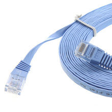 Bonne performance ordinateur cat6 UTP câble plat plat