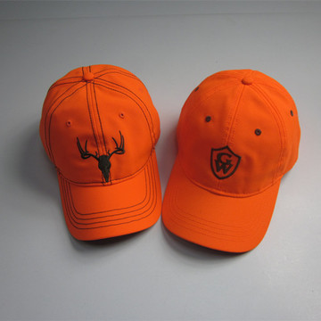Fluorescent Orange Embroidery Baseball Cap Wholesale