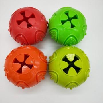 Bola TPR de abóbora para brinquedos de cachorro