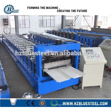 Hot Automatic Self Lock Galvanized Steel Aluminum Metal Roofing Machine for sale , Metal Wall and Roof Roll Forming Machine
