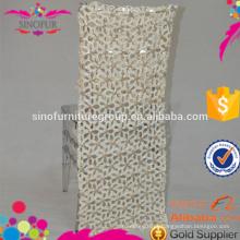 Decoração de casamento projetos de capa de cadeira de lantejoulas