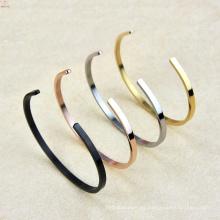 2017 C tipo pulsera de acero de titanio ajustable elástica para hombres