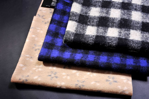 Sell Jacquard Knitted Woolen Fabric Faux Fur