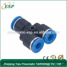 Raccords pneumatiques à une touche de l'union en plastique Y de la Chine