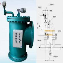 Filtro de Água Brushaway Automático para Sistema de Aquecimento de Banheira de Água Quente