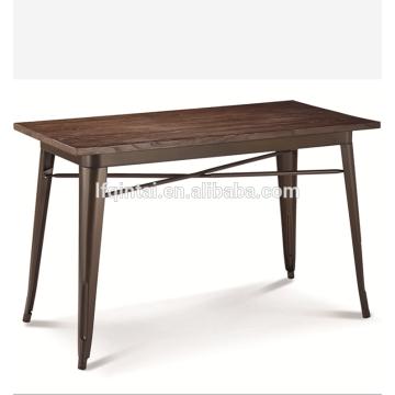 table de buffet buffet en bois avec cadre en métal rétro