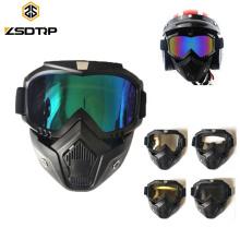Volles Gesicht, das kundenspezifische Weinlese reitet MX Google Motorrad-Masken-Schutzbrillen