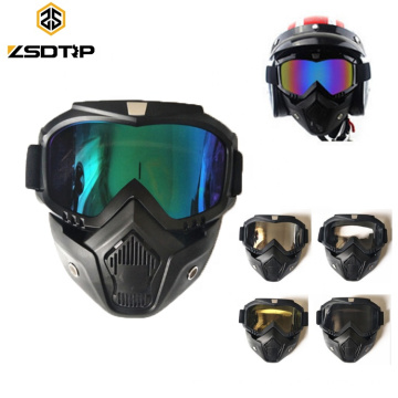 Full Face Racing Custom Vintage Riding MX Google Motorcycle Mask Goggles